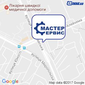 Сервіс-Майстер на мапі