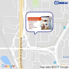 Синельник на мапі