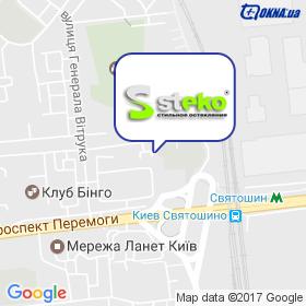 Завод Стеко, дилер на мапі