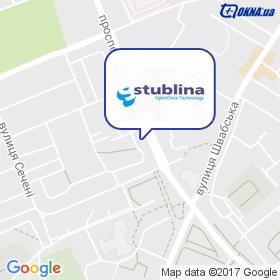 Стубліна на мапі