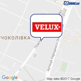 ВЕЛЮКС Україна на мапі
