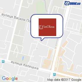 Віннокна на мапі