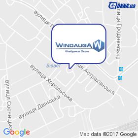 Віндауга на мапі
