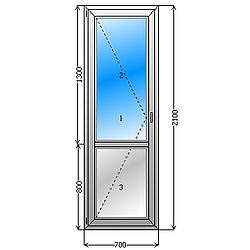 балконная дверь цена. Балконная дверь, с поворотно откидной