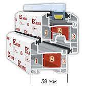 Профильная система KBE 3х-камерная 58мм - практичность прежде всего.
