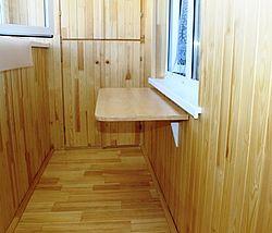 Внутренние работы по отделке балконов и лоджий