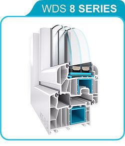WDS 8 SERIES — технические характеристики 6-камерной профильной системы