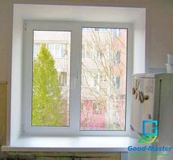 Металлопластиковое окно на кухню стоимость 1790 грн без монтажа