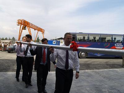Открытие нового логистического центра компании REHAU