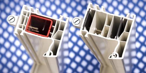 В оконной раме фирмы aluplast материал Ultradur® заменил металл
