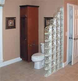 Стеклоблоки в ванной фото | Мебель для