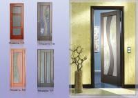 Дверне полотно фільончасте з масиву сосни