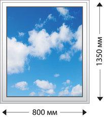 Глухое одностворчатое окно с одн. с/пакетом. Профиль VEKA EUROLINE PRO58