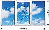 Трехстворчастое окно с одним открываниемVEKA EUROLINE PRO58