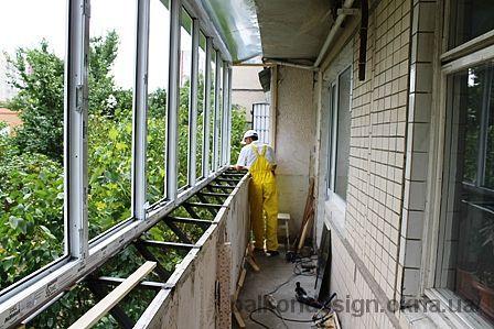 Вынос балкона в панельном доме