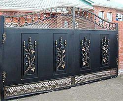 Металлические ворота, Художественная ковка. Чернигов