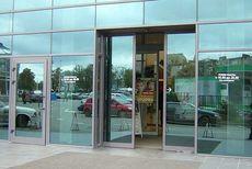 Двери входные автоматические раздвижные.