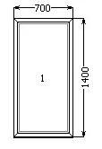 KTM terma 700*1400 глухое, однокамерный стеклопакет