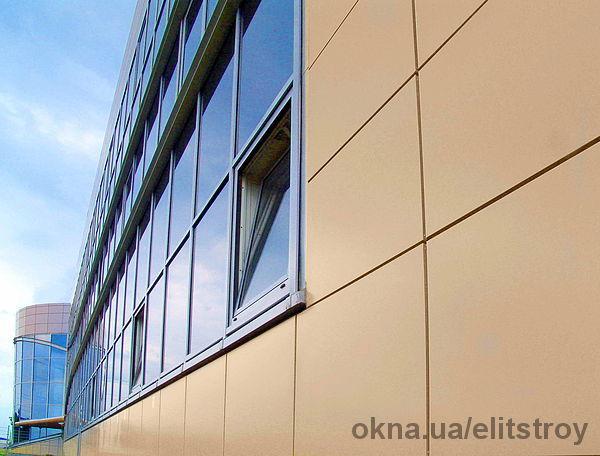 Облицовка фасадов композитом в Николаеве