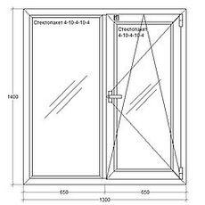 Окна металлопластиковые из профиля REHAU (Германия), 1300х1400мм, ст-т 4-10-4-10-4