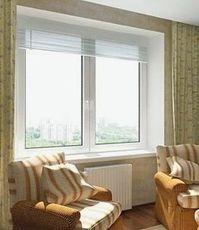 окно REHAU в кухню, размер 1500*1500, 2х камерный стеклопакет, немецкая фурнитура Roto NT
