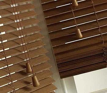 Жалюзи горизонтальные деревянные 25 и 50 мм
