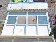 Французский балкон aluplast, немецкая фурнитура Roto + усилит. профиль Кость