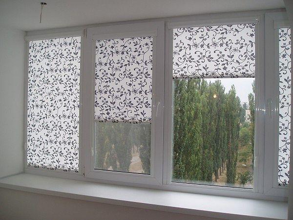 Декор окна жалюзи
