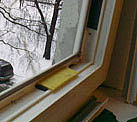 Регулировка фурнитуры створки балконной двери с переустановкой стеклопакета