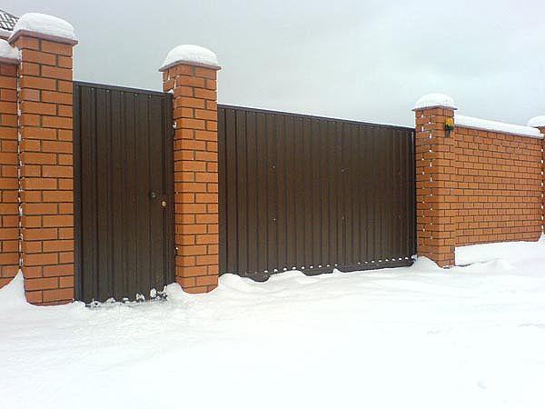 Автоматика ворота фасады