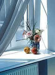 Подоконник пластиковый белого цвета Open Teck (Украина) 600х2000