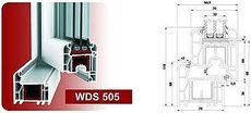 Двухчастное металлопластиковое окно для гостиной из профиля WDS 505 с фурнитурой МАСО с однокамерным стеклопакетом 24 мм. Габариты окна: ширина 1,1 м, высота 1,5 м.
