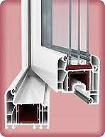 Двухстворчатое металлопластиковое окно в кабинет из профиля WDS 505 с фурнитурой МАСО с двухкамерным стеклопакетом 32 мм. Размеры окна: ширина 1,15 м, высота 1,35 м.
