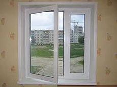 Двухстворчатое окно с фурнитурой Масо
