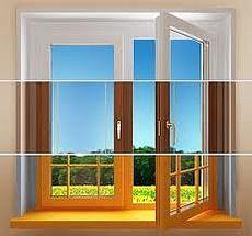 Теплое двухстворчатое окно с фурнитурой Масо