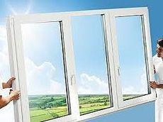 Окно трехчастное, профиль Hoffen, фурнитура Siegenia стеклопакет однокамерный