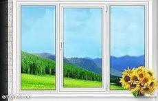 Окно в комнату с двумя открываниями, профиль Rehau E60, фурнитура Vorne стеклопакет двухкамерный с энергосбережением