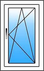 Окно с одной створкой, профиль Rehau e60, фурнитура Vorne стеклопакет двухкамерный