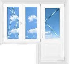 Балконный блок, профиль Aluplast 4000, фурнитура Siegenia стеклопакет однокамерный