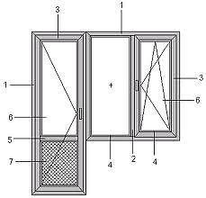 Балконный блок в квартиру, профиль WDS 505, фурнитура Siegenia, стеклопакет однокамерный