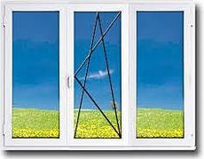 Трехстворчатое окно с внутренней ламинацией, профиль WDS 400 фурнитура Siegenia, стеклопакет двухкамерный