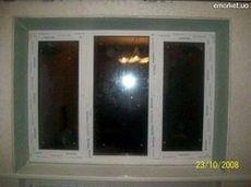 Окно Aluplast комнатное с утепленным двухкамерным стеклопакетом, размер окна 1,5 х 0,9 м
