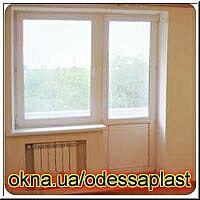 Балконный блок для панельного дома в маленькой комнате (спальня, кухня) REHAU