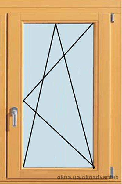 Одностворчатое, поворотно-откидное окно