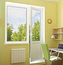 Балконный блок (дверь 2100х700 мм, окно 1400х700 мм)