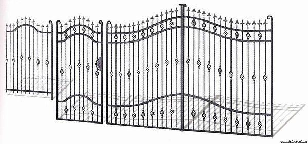 Решетки, перила, калитки, ворота, козырьки.