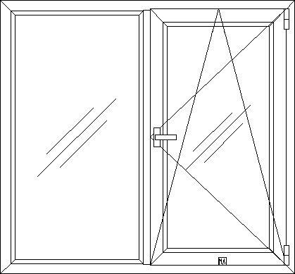 Окно ПВХ тип 1