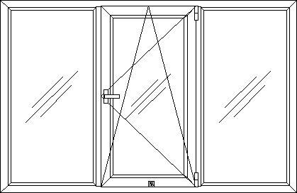 Окно ПВХ тип 2