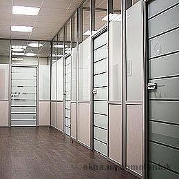 Интерьерные и офисные перегородки ALUTECH