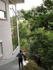 Мойка труднодоступных окон и остекления до 16 м высотой